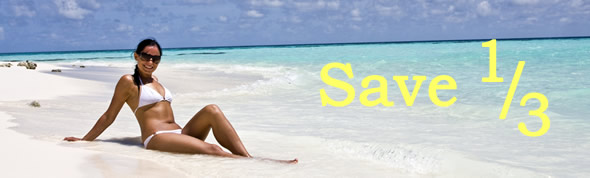 Save 1/3 off Beach Package
