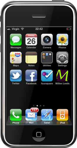 Millies Leeds : Mobile : Home Screen