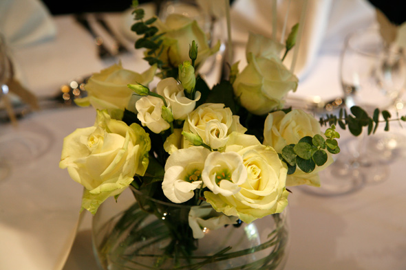 Wedding Flowers - Table Display