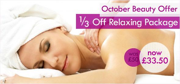 October Beauty Offer: 1/3 Off Prescription Facial & Back Massage