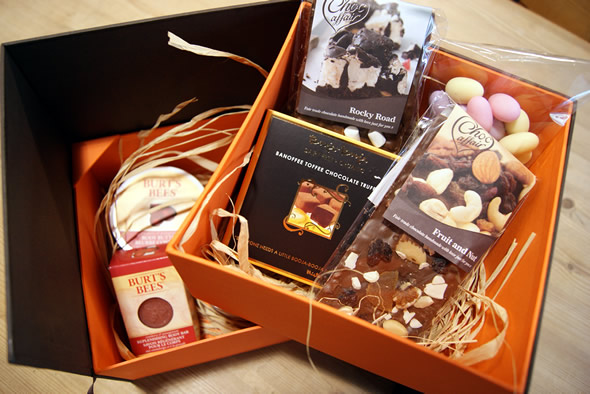 Chocolate & Burt's Bees Hamper Leeds