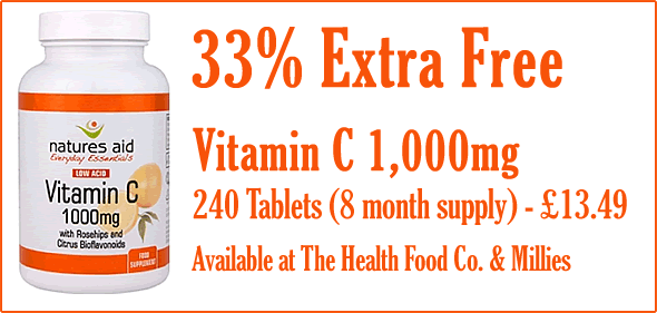 Vitamin C 1000mg - 33% Extra Free - 240 Tablets