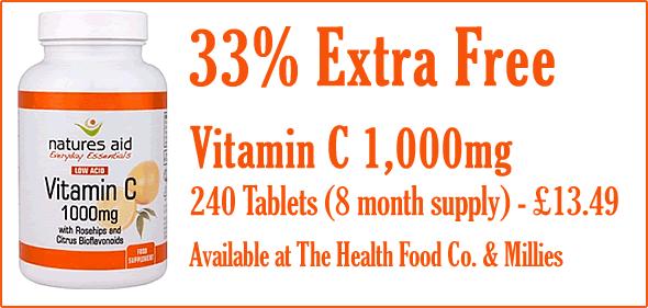 Vitamin C 1000mg - 33% Extra Free - 240 Tablets