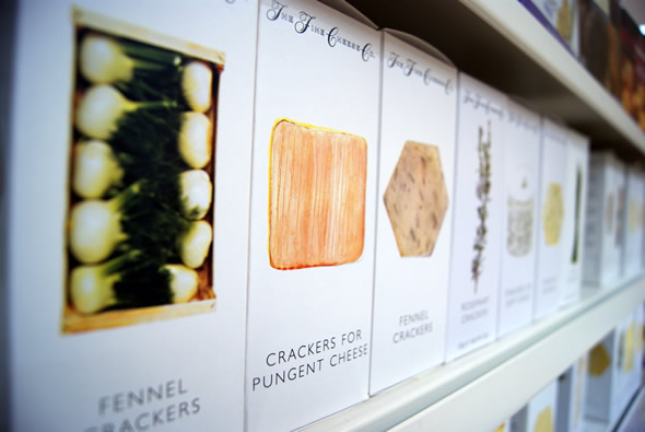 Selection of Fine Cheese Co. Crackers available at Millies