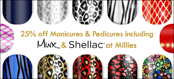 Manicure Pedicure Minx Shellac