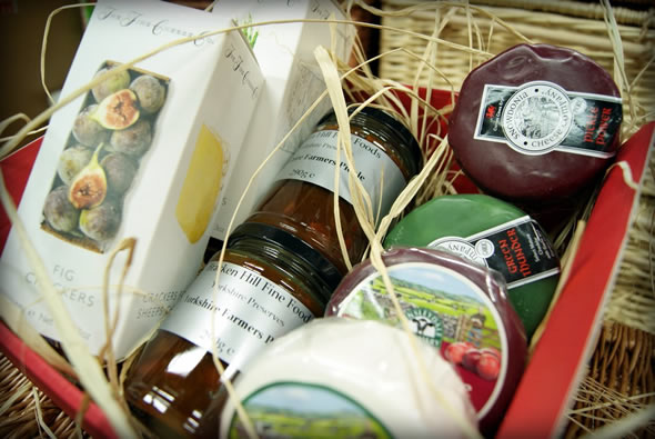 Selection of Cheese Truckles, Fine Cheese Co Crackers and Bracken Hill Fine Food Chutneys