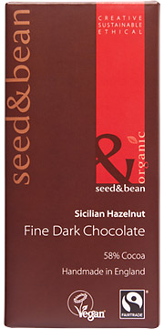 Organic Fairtrade Scicilian Hazelnut Dark Chocolate Bar