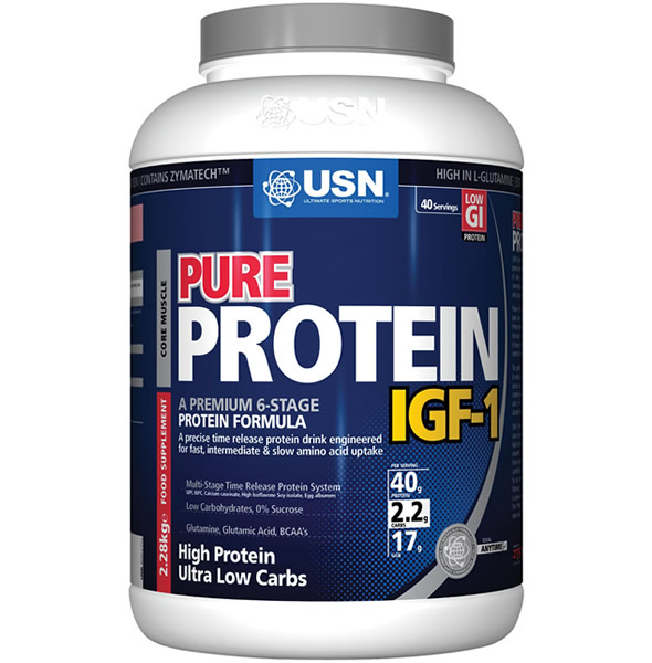 Protein Shaker Leeds: SAVE £30 On USN Pure Protein IGF-1 (2.28kg) Now £45 : Leeds