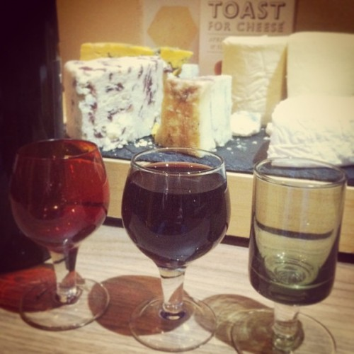 Testing out our new glasses with some port. Helped out with some cheese (inc. Port Soaked Stilton) & crackers.