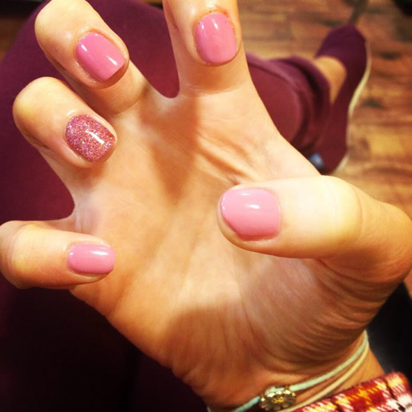 Pink Shellac for Holiday : Shellac Leeds