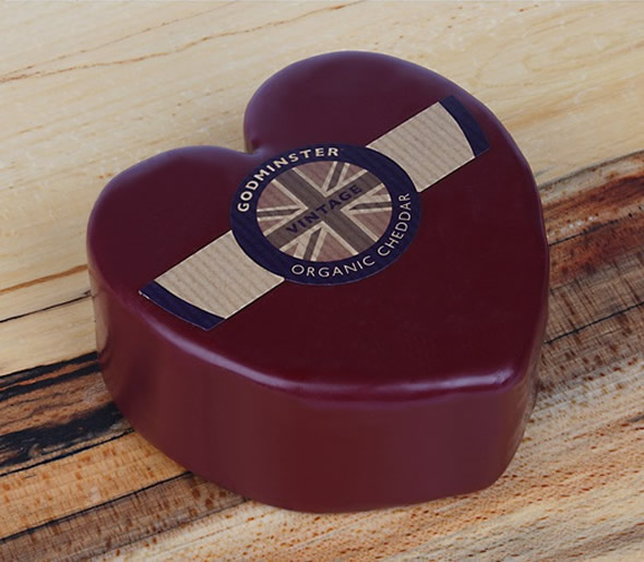 Godminster Heart Organic Cheddar