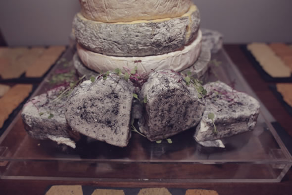 Heart Shaped Goats Cheese for Cheese Tower