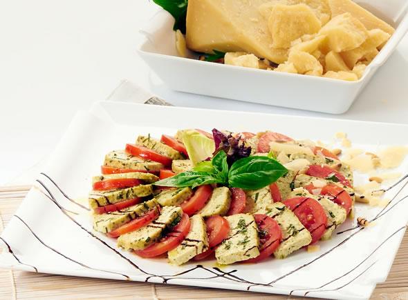 Tofu Basilico with tomato