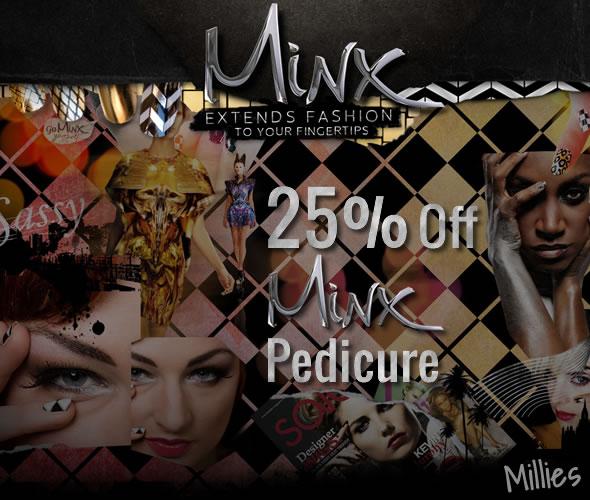 Minx Pedicure Offer