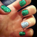 Christmas Shellac Glitter Nails