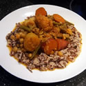 Detox Diet Day 1: Cauliflower and Potato Curry with Organic Wild Rice