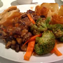 Home-made Venison Pie & Organic Veg